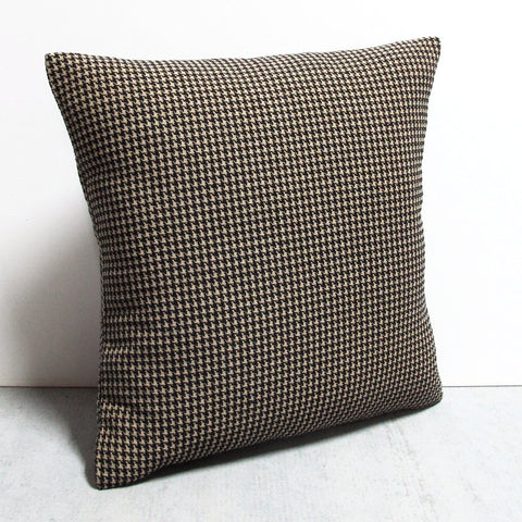 Black 20 x 20 Houndstooth Pillow