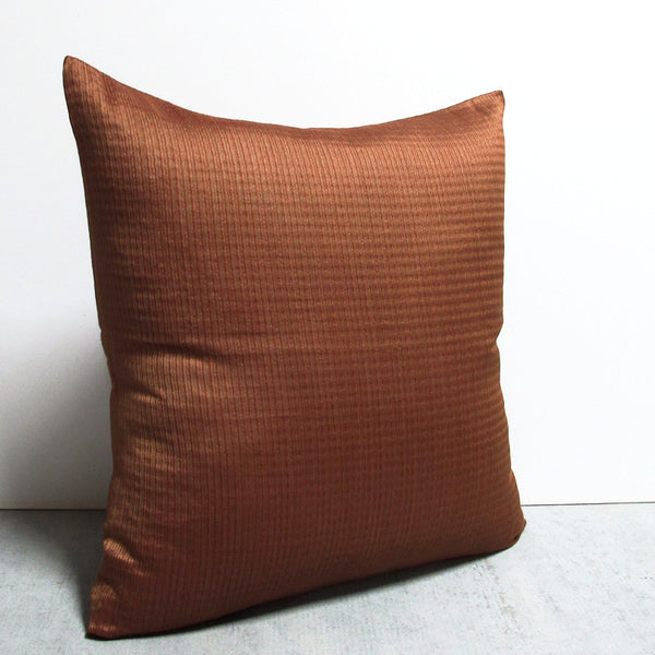 Rust 24 x 24 Waved Line Pillow