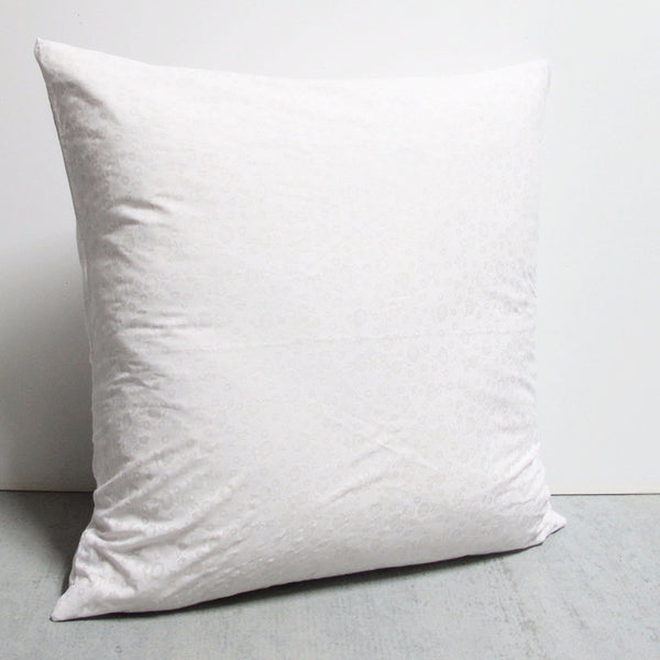 White 25 x 25 Flower Pillow