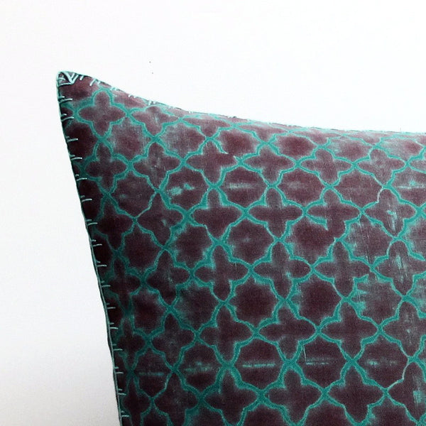 Green 26 x 26 Over-Dyed Pillow