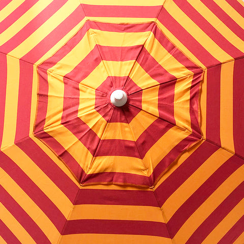 Beach Umbrella Orange Stripe