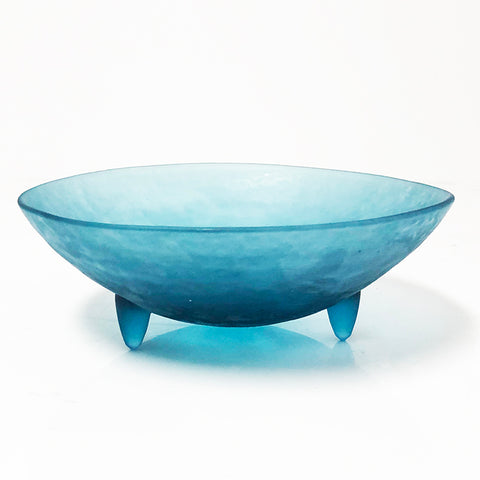 Glass Blue Bowl
