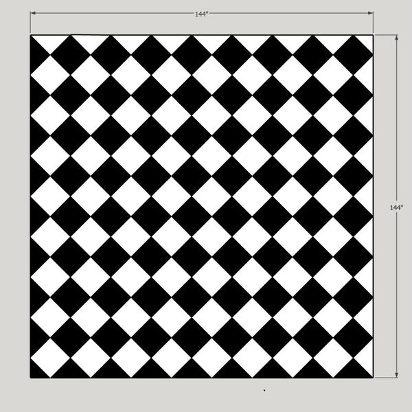 Checker floor diamond 12 x 12