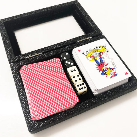 Card Deck Shagreen Black