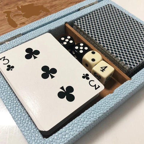 Card Deck Shagreen Blue