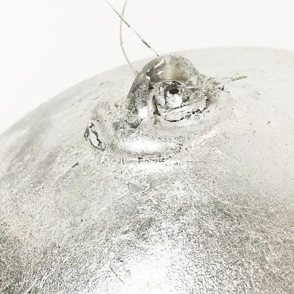 Oversized Silver Leaf Ornament
