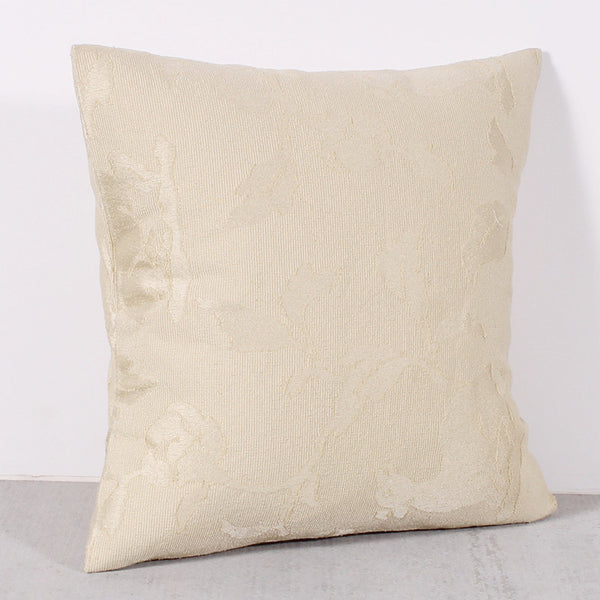 Cream 16 x 16 Leaf Pillow