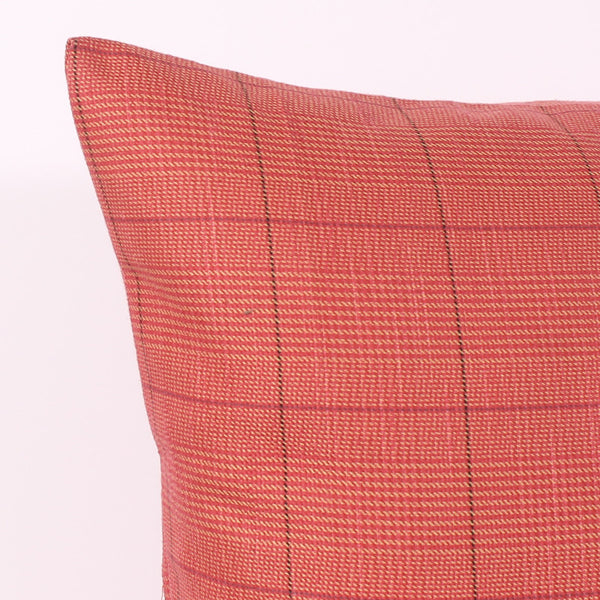 Red 21 x 21 Plaid Pillow