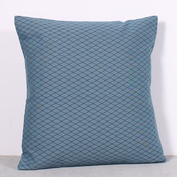 Blue 20 x 20 Diamond Pillow