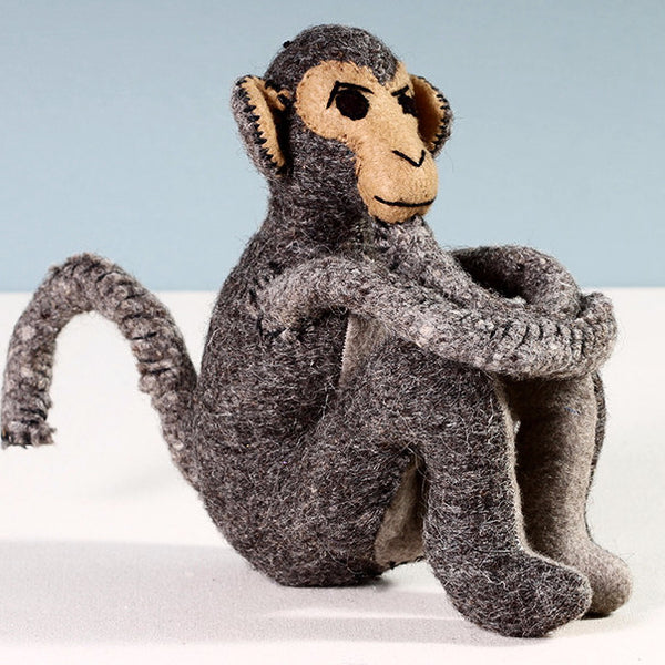 Monkey Sitting Gray