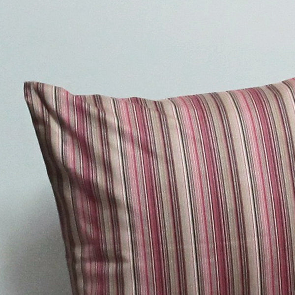 Pink 21 x 21 Striped Pillow