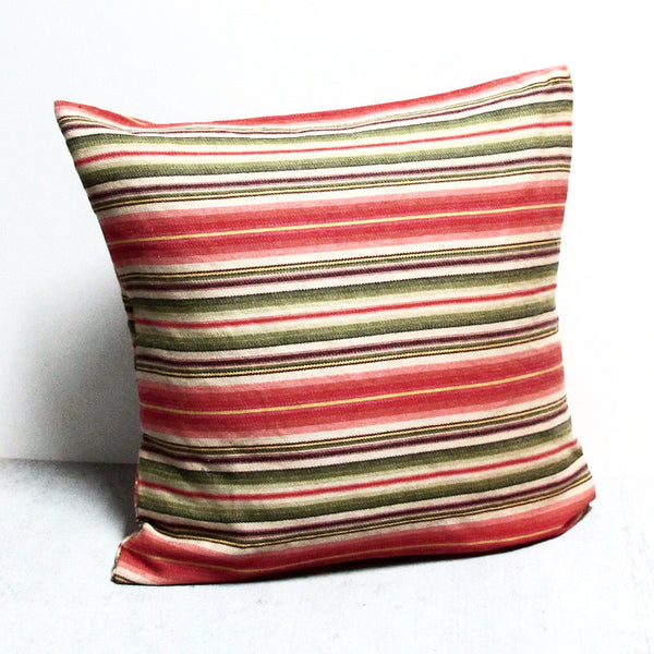Multi Colored 22 x 22 Striped Pillow