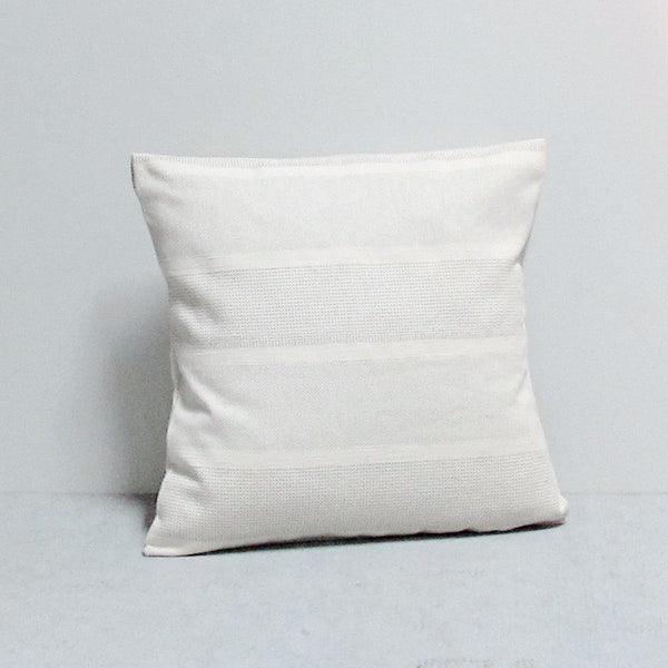 Cream 16 x 16 Double Knit Pillow