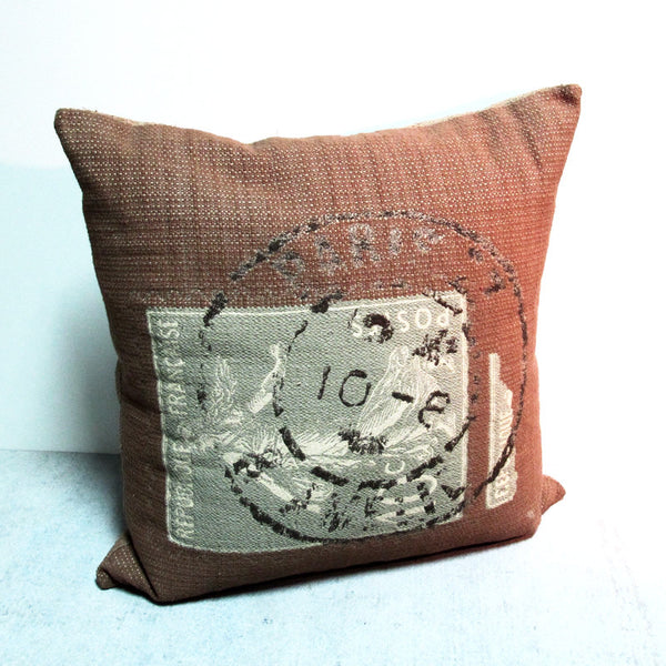 Brown 22 x 22 Postage Pillow