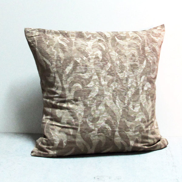 Beige 24 x 24 Vine Pillow