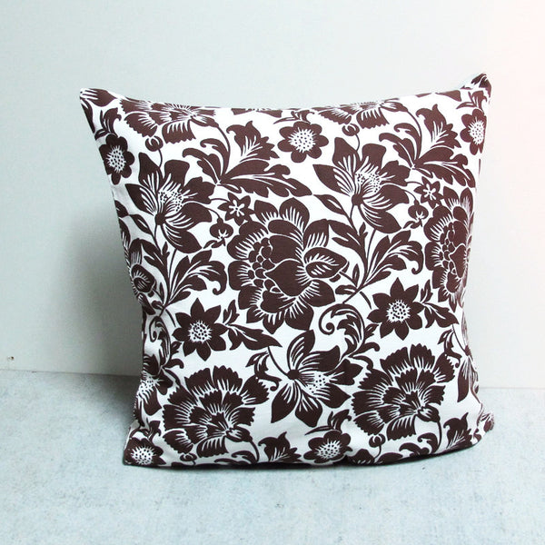 Brown 26 x 26 Botanical Pillow