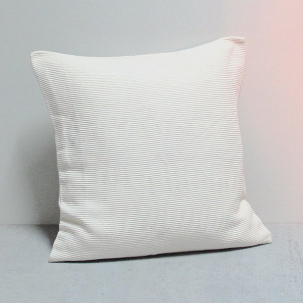 White 20 x 20 Ribbed Pillow