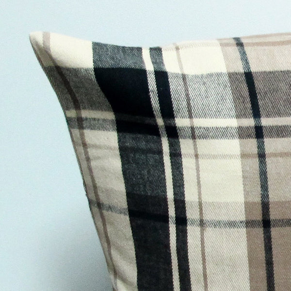 Brown 20 x 20 Plaid Pillow