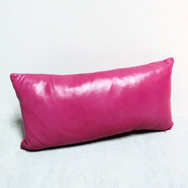 Pink Leather Pillow