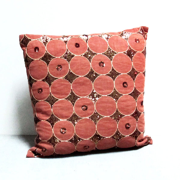 Orange 18 x 18 Sequin Pillow