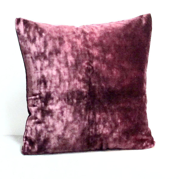 Plum 21 x 21 Velvet Pillow