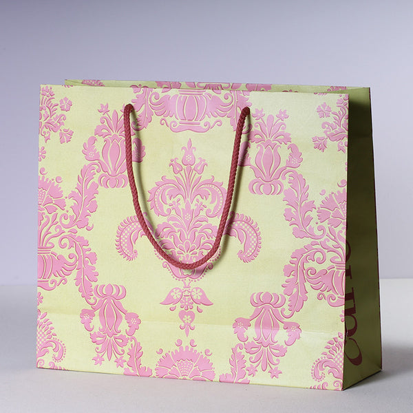 Shopping Bag - Pink Damask