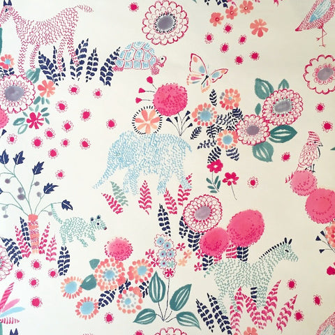 Wallpaper 41 Pink & Navy Floral