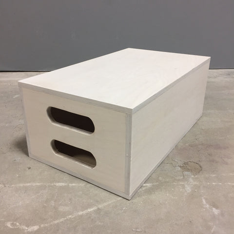 Apple box white wash 19 3/4 x 11 3/4 x 8