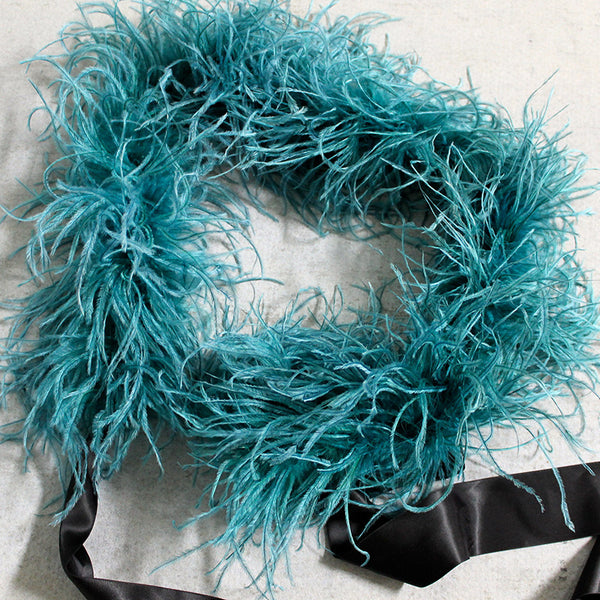 Feather Boa Teal
