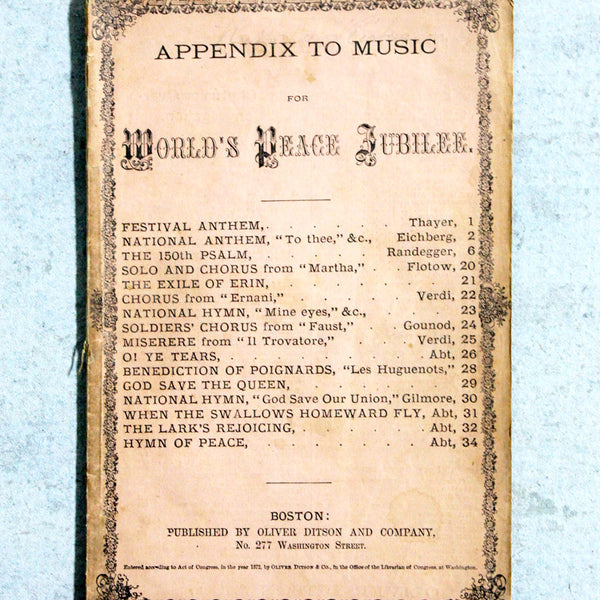Music Book Antique Appendix