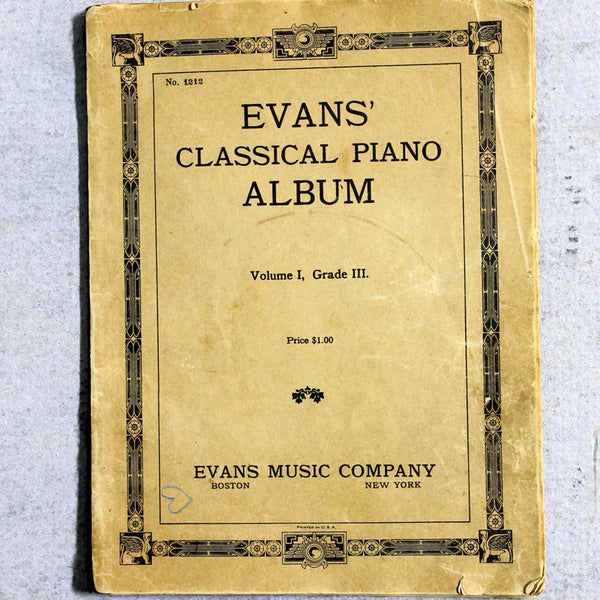 Music Book Antique Piano