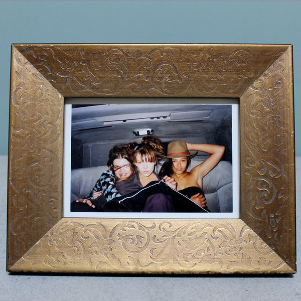 Picture Frame Gold Damask