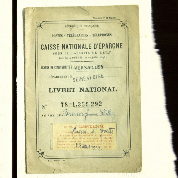 Pamphlet French Bank