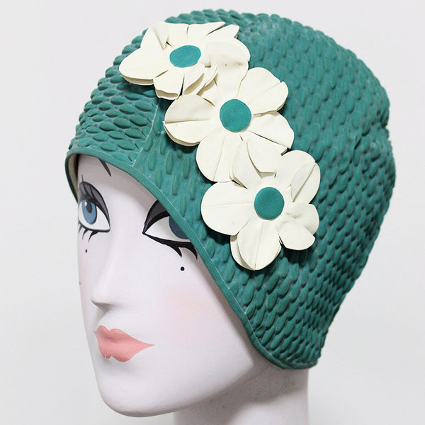 Vintage Dark Green Swim Cap