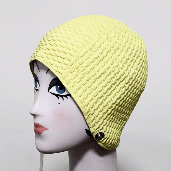 Vintage Yellow Swim Cap