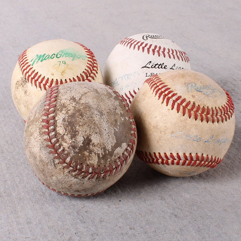 Baseballs Worn Set