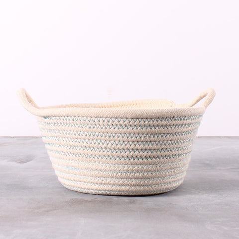 Basket Embroidered Yarn Blue