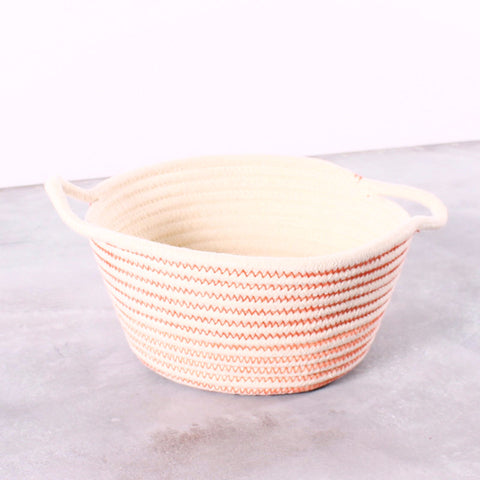 Basket Embroidered Yarn Orange