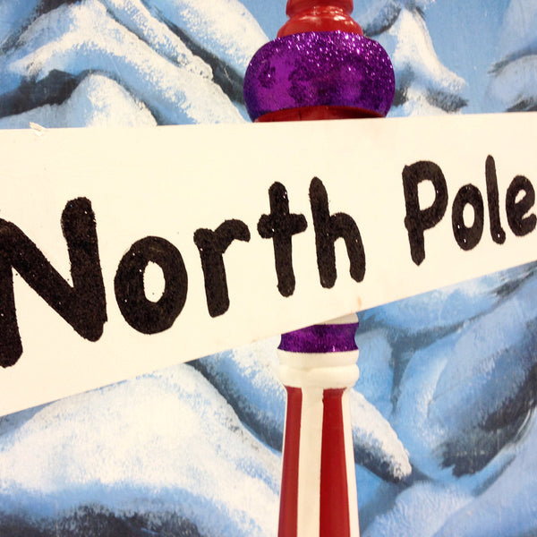 North Pole Street Sign