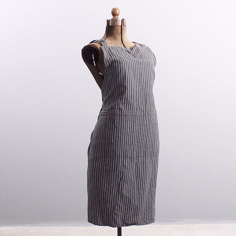 Apron Gray Stripe