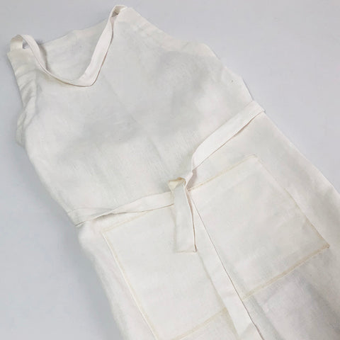 Apron Linen 1 Pocket