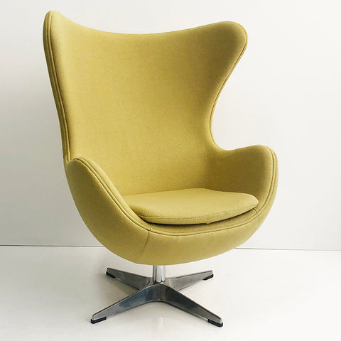 Citron Wool Egg Chair
