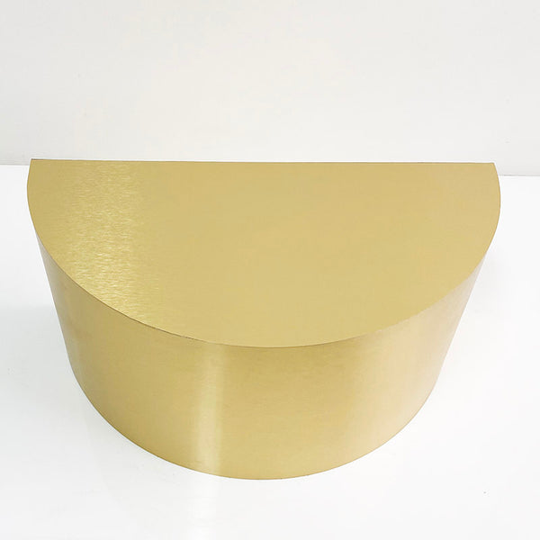 gold brushed half cylinder 32 x 16 x 16