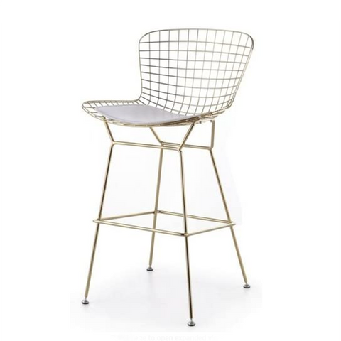 Bertoia Gold Stool