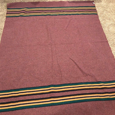 Cranberry Stripe Blanket