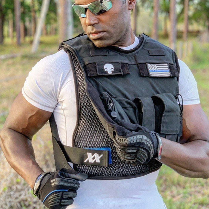 Cop invents breathable cooling vest for police law enforcement officers and military to wear under armor to stay cooler and less sweaty