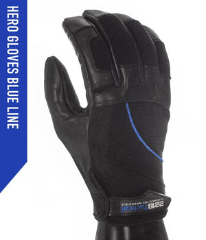 Hero Gloves - Needle Resistant & Level 5 Cut Resistant Gloves 221B Tactical XS Blue-line
