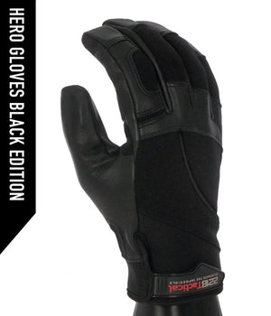 Hero Gloves + Vanquish First Responder (FRX) Tool Bundle bundle 221B Tactical Black Edition XS