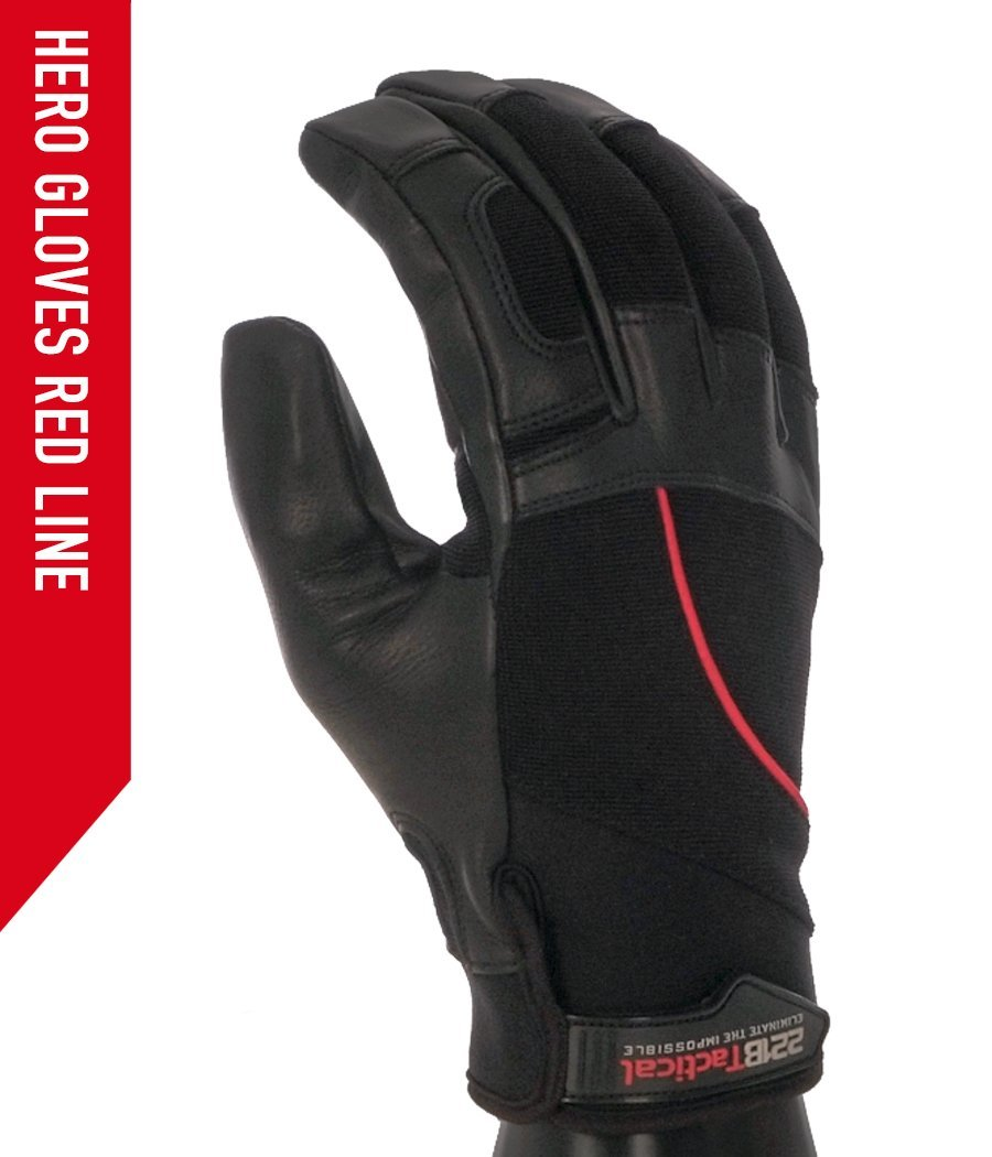 Hero Gloves - Needle Resistant & Level 5 Cut Resistant Gloves 221B Tactical XS Redline