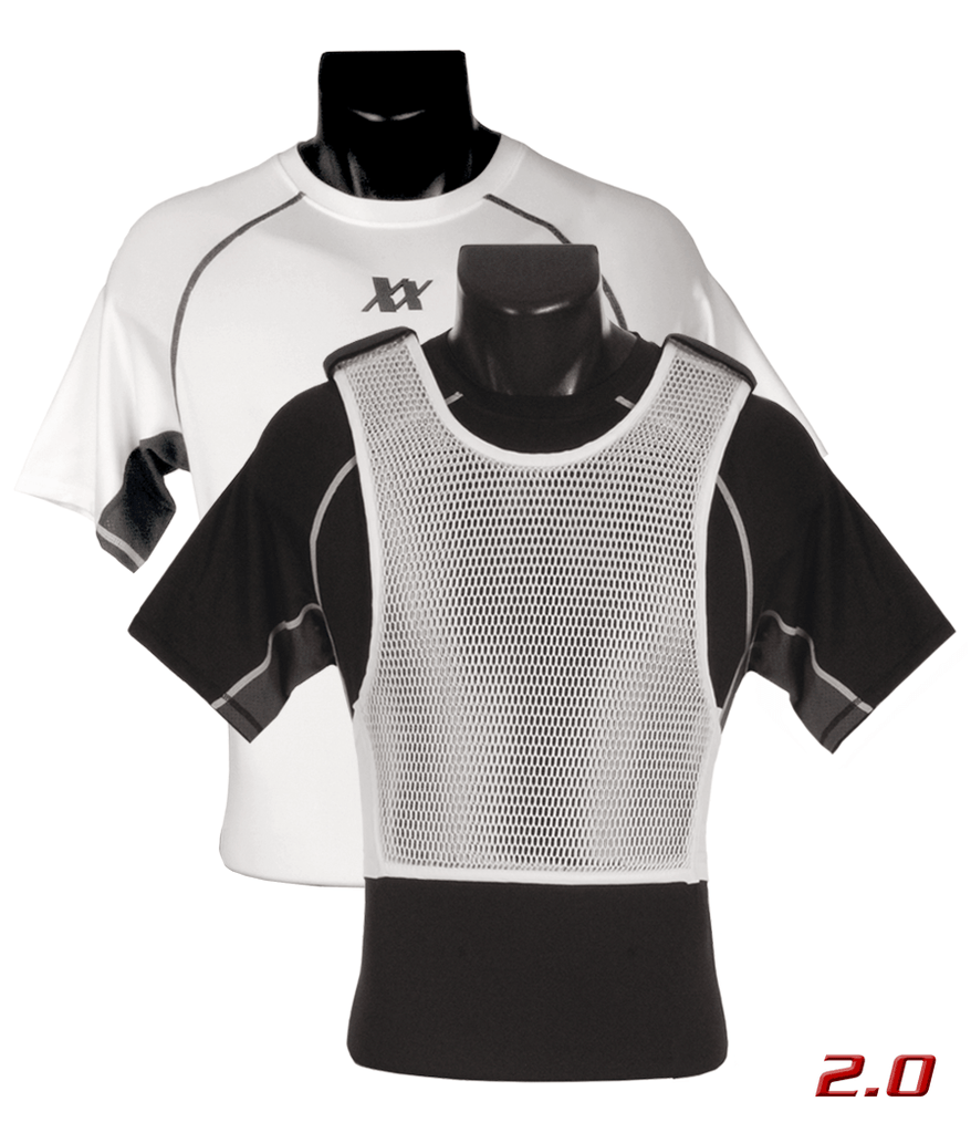 Maxx-Dri Ultra Comfort System 2.0 (White Maxx-Dri 2.0 Vest with Compression T-Shirt)